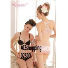 Underclothes Undergarment Behind the ring Bra suit 02500 - Black-75B