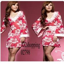 Sexy, attractive three-piece kimono 02798