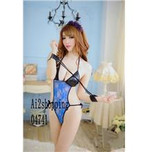 04741Spell color sexy lace leotard Pajamas+Gloves