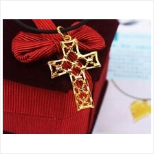 Clearance Alluvial Gold Plated Cross Pendant