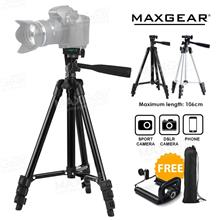 MAXGear Telescoping Camera DSLR Tripod Extendable Free Phone Holder