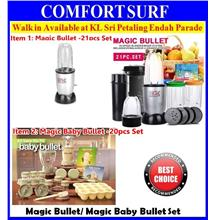 Magic Bullet/ Magic Baby Bullet 20 Piece Set Baby Food Blender & Maker
