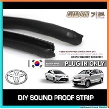 GIBON DIY SOUND INSULATION RUBBER STRIP - TOYOTA VIOS/ALTIS/WISH/CAMRY