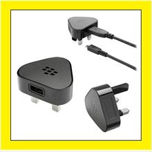 Blackberry Bold 9700 9780 9790 9900 3 Pin Wall Travel Charger + USB