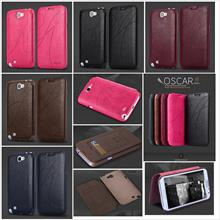 Samsung Galaxy Note 2 KALAIDENG OSCAR II Wallet Leather Case Cover *FR