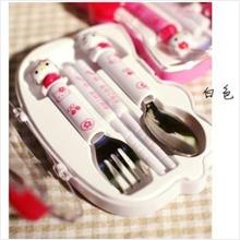 Cute Chopsticks Spoon Fork + Case Set
