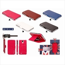 Samsung Galaxy S4 MERLIN LONDON Super Slim Leather Case Cover *FREE S