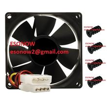 8cm Casing Fan with Molex 4pin Connector & 4pcs Fan Screw