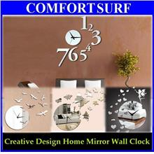 House Creative Interior Decoration Framelss Mirror Wall Acrylic Clock