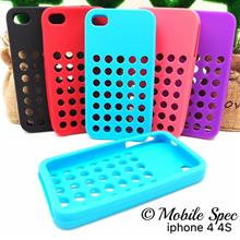 APPLE IPHONE 4 4S SOFT RUBBER SILICONE TPU BACK COVER CASE