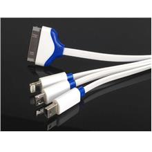 4 in 1 Iphone 4,5,6/Samsung/Tab ~ Micro/Mini USB Fast Charging Cable