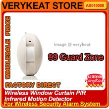 Window PIR Infrared Motion Detector for Wireless Security Alarm System