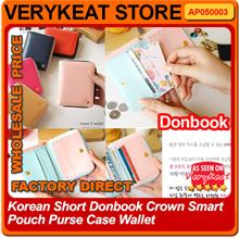 Korean Short Donbook Crown Smart Pouch Purse Case Wallet