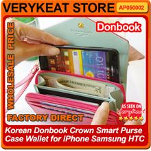 Korean Donbook Crown Smart Purse Case Wallet for iPhone Samsung HTC