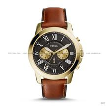 FOSSIL FS5297 Men's Grant Chronograph Leather Strap Black Brown