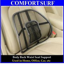 High Grade Adjustable Seat Back Support Cushion wf Massage Pad
