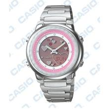 Casio Ladies Ana-Digit Stainless Steel Watch LAW-25D-4AVDF