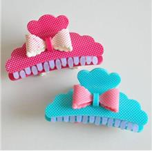 [Loss Clearance] [TW] Kawaii Ribbon Polka Dots Shark Hair Clip