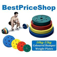 10kg-15kg High Grade Color Bumper Dumbbell Weight Plate Barbell Plates