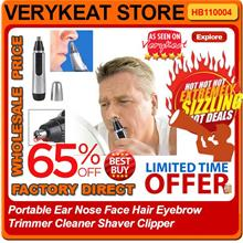 Wireless Ear Nose Face Hair Eyebrow Trimmer Cleaner Shaver Clipper