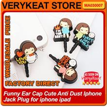 Funny Ear Cap Cute Anti Dust Iphone Jack Plug for iphone ipad
