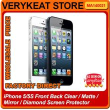 iPhone 5/5S Front Back Clear/Matte/Mirror/Diamond Screen Protector