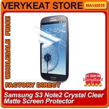 Samsung S3 Note2 Crystal Clear Matte Screen Protector