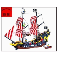 Lego Compatible Bricks Enlighten Building Blocks Pirates Black Pearl