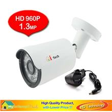 CCTV OUT DOOR IR Bullet 1/3' AHD 960P 1.3MP Camera - Day & Night View