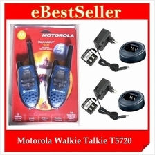 Offer! Twin Pack MOTOROLA TALKABOUT T5720 Two Way Radio Walkie Talkie