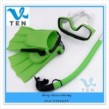 Swimming Mask Diving With Snorkel And web-footed For Children 3 Colors