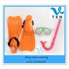 Children Diving Mask With Snorkel And Web-footed