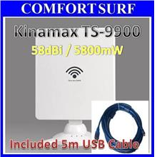 Kinamax TS9900 + 5M USB Cable High Power Wifi Adapter Booster Wireless
