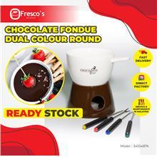 Chocolate Fondue Dual Colour Round Fondue