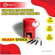 Chocolate Fondue Red Heart Cup Fondue