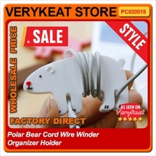 Polar Bear Cord Wire Winder Organizer Holder