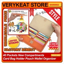 40 Pockets New Compartments Card Bag Holder Pouch Wallet Organizer