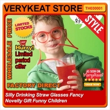 Silly Drinking Straw Glasses Fancy Novelty Gift Funny Children