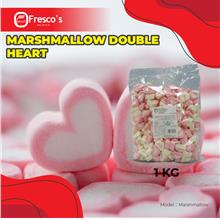 Marshmallow Double Heart 1kg per bag