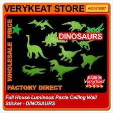 Full House Luminous Paste Ceiling Wall Sticker - DINOSAURS