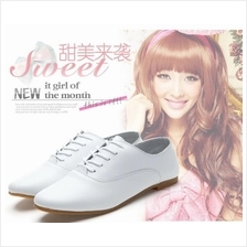 WOMEN SHOE White Casual Leather Comfortable Soft Lady