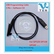 USB programming cable for Motorola GP328 GP338 GP340 Two Way Radio