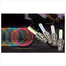 2 x Tyre Wheel Valve Caps LED Light Neon Lamp for Bike Car