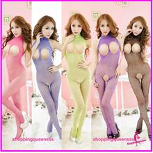 Fishnet Body Stocking Sexy Lingerie Sleepwear Open Crotch (6 Colors)