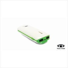 TECH-TITAN POWER BANK 5600MAH DUAL OUTPUT 2A GREEN (TT-PB560)
