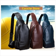 Men High Quality PU Leather Sling Bag Shoulder Wallet