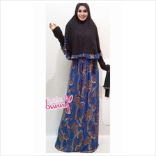 2 Pieces Joint Batik Design Jubah Dress with Ribbon (I... - BOWJ f4c83b77ba