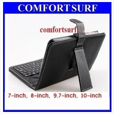 7, 8, 9.7, 10 inch Quality Leather Keyboard Protector Case Casing