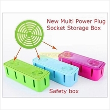 Cable Cord Socket Storage Organizer Box Wire Manager with cooling hole