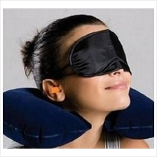 3 in 1 Travel Set (Inflatable Neck Pillow + Eyeshade + Earplugs)